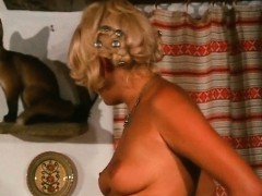Blonde retro hoe grabbed by the tits and fucked